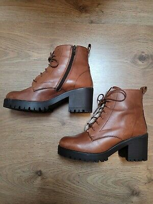 £15 • Buy Red Or Dead Tan Leather Boots Size 5 Worn Twice *Excellent Condition*