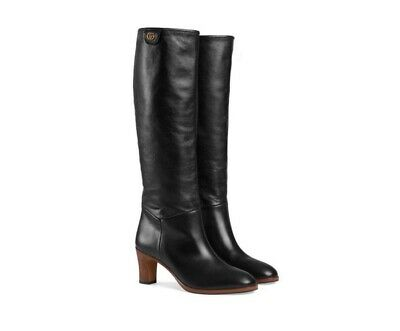 £499 • Buy Gucci Women Leather Knee High Boots Shoes Size 36 IT