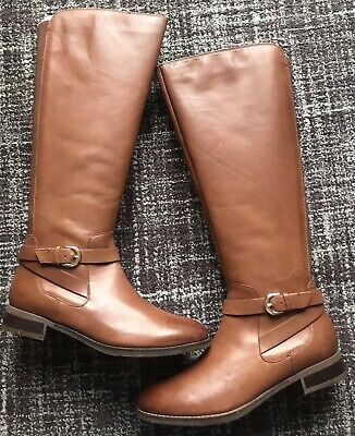 £49.95 • Buy Ladies CLARKS Netley Whirl Knee High Tan Leather Boots Uk Size 7E RRP £145