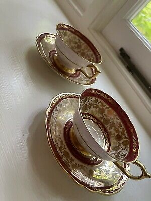 £2.50 • Buy Vintage Paragon By Appointment Queen & Queen Mary Bone China. 2 Cups & Saucers.