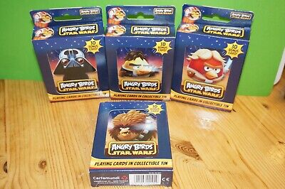 £9.99 • Buy Angry Birds Star Wars Playing Cards In Collectible Tins - SET Of 4