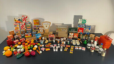 £24.99 • Buy Vintage Miniature Grocery Items , Kids Play Shop Real Food Packaging Casdon Till
