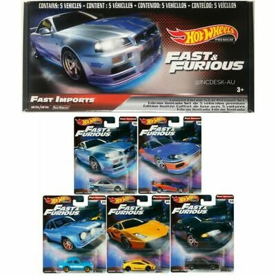 AU50 • Buy Hot Wheels Fast And Furious Fast Imports Set Of 5 Cars Premium