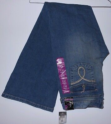£21.86 • Buy New With Tags Rue 21 Low Rise Flare Leg Blue Jeans Size 7/8 Regular 34 X 32