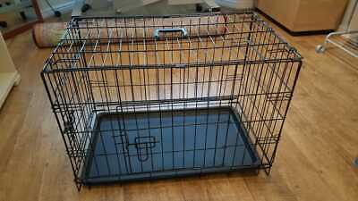 £16 • Buy Dog Cage Puppy Pet Crate Carrier Medium Metal