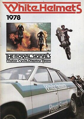 £4.99 • Buy Royal Signals Motor Cycle Display Team. THE WHITE HELMETS   Programme 1978