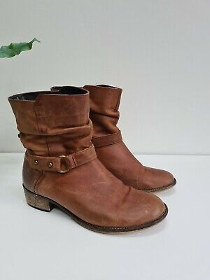 £14 • Buy Next Leather  Brown / Tan Boots  Mid Height Uk 6 Eu 39