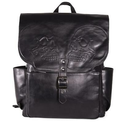 £37.99 • Buy Banned Apparel Fire Armour Skull Embossed Gothic Backpack Bag