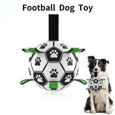 £9.49 • Buy Leather Football For Dog Toys Puppy Dogs Outdoor Rolling Ball Training Pets Game