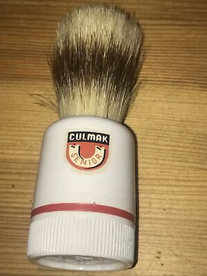 £10 • Buy Vintage CULMAK - SENIOR Shaving Brush-Pure Badger-with Soap Section In Handle