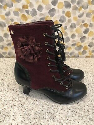 £22 • Buy Joe Browns Ladies Black & Burgundy Ankle Boots Size Uk5 Worn Once Immaculate
