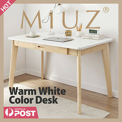 AU99 • Buy MIUZ Computer Desk Office Study Student Wood Table Drawer Nordic White Natural