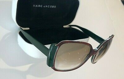 £25 • Buy Vintage Marc Jacobs Sunglasses - Retro 1970's Style - Brown Frame & Green Arms