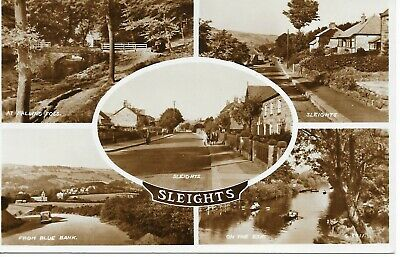 £0.99 • Buy Postcard North Yorkshire Whitby Aislaby Sleights Multiview X 5 Esk Valentines