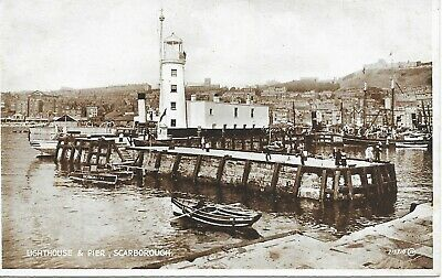 £0.99 • Buy Postcard North Yorkshire Scarborough Lighthouse Pier Harbour Boats Valentines