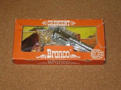 £10 • Buy Boxed Crescent Bronco Cap Gun. Box Is Split But Contents Are Nearly Mint