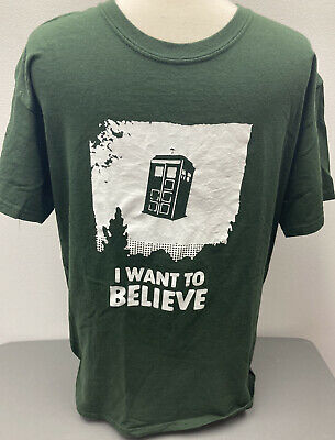 £16.77 • Buy Doctor Who Tardis Aliens X-Files Crossover T-Shirt I Want To Believe Graphic T L