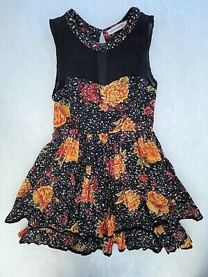 AU34.50 • Buy Finders Keepers Women's Layered Floral Sleeveless Sheer Top Dress - Size 12