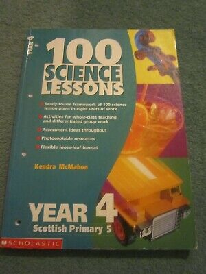 £4 • Buy 100 Science Lessons For Year 4: Year 4 By Kendra McMahon (Paperback, 2000)