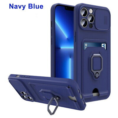 AU7.09 • Buy Case For IPhone 13 12 11 Pro Max XR XS 7 8 Silicone Card Slot Ring Holder Cover