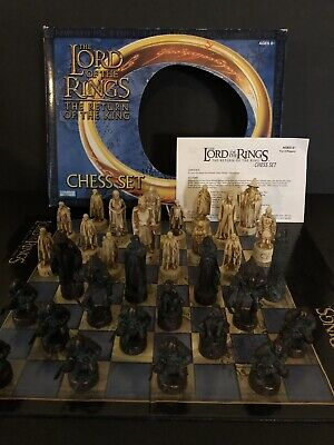 £18.14 • Buy The Lord Of The Rings The Return Of The King Chess Set **Hand Sculpted Pieces