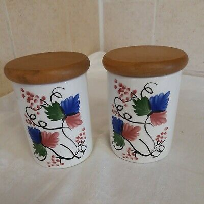 £17 • Buy PORTMEIRION WELSH DRESSER  Storage Canister  X 2 By ANGHARAD MENNA 1992 4.25
