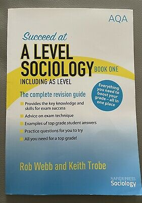 £3.50 • Buy Succeed At A LEVEL SOCIOLOGY Book One AQA  Including AS Level - Good Condition