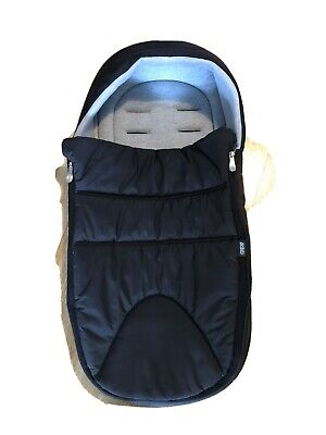 £15 • Buy Mamas And Papas Footmuff In Black With Grey Lining
