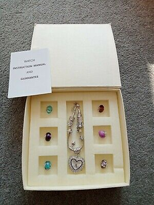 £3.99 • Buy The Watch Company Vintage Charm Bracelet Watch BNIB With Colourful Charms