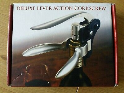 £6 • Buy Deluxe Lever-Action Corkscrew Set (Boxed And Unused)