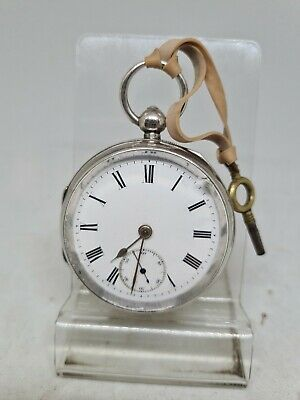 £85 • Buy Antique Solid Silver Gents Chester Pocket Watch 1902 Working Ref1844