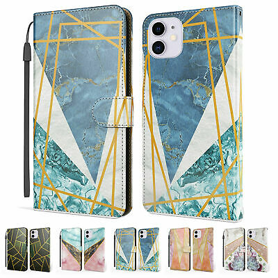 AU19.70 • Buy Marble Texture Flip Holder Wallet Phone Case For IPhone 12 Pro Max 11 XR X 8 7 6