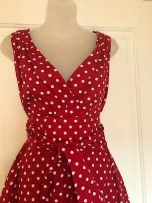£10 • Buy Vintage Red Polka Dot Swing Dress By Rosa Rosa. Size UK 16. Brand New With Tags.