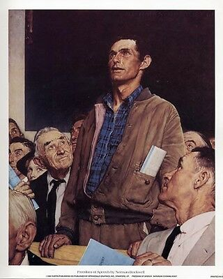 $ CDN16.28 • Buy Norman Rockwell Saturday Evening Post FREEDOM OF SPEECH