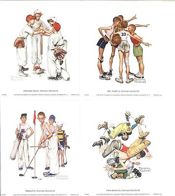 $ CDN33.32 • Buy Norman Rockwell FOUR GREAT YOUTH SPORTS PRINTS