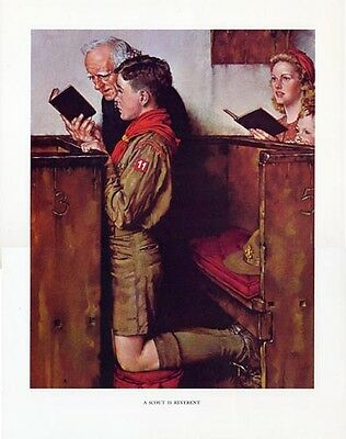 $ CDN30.32 • Buy Norman Rockwell Boy Scout Print SCOUT IS REVERENT 1940