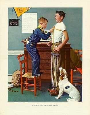 $ CDN30.32 • Buy Norman Rockwell Boy Scout Print PHYSICALLY STRONG 1964