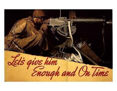 $ CDN20.40 • Buy Norman Rockwell WWII WW2 Print ENOUGH AND ON TIME