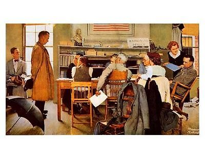$ CDN19.13 • Buy NORMAN ROCKWELL VISITS A RATION BOARD WWII Print