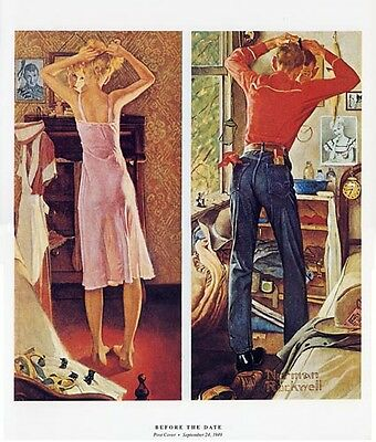 $ CDN19.99 • Buy Norman Rockwell Getting Ready Print BEFORE THE DATE