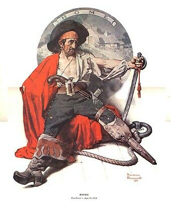 $ CDN21.32 • Buy Norman Rockwell Nostalgic Pirate Print HOME