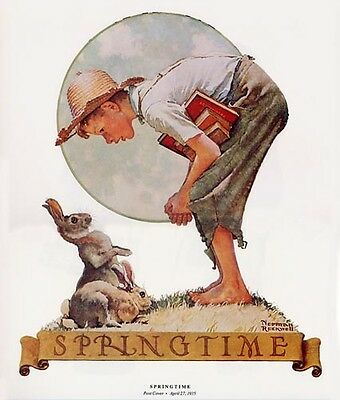 $ CDN19.99 • Buy Norman Rockwell Boy And Rabbits Print SPRINGTIME 1935