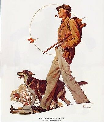 $ CDN19.13 • Buy Norman Rockwell Strolling Print A WALK IN THE COUNTRY