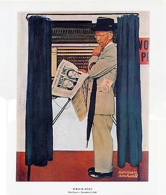 $ CDN19.13 • Buy Norman Rockwell WWII WW2 Election Print WHICH ONE?