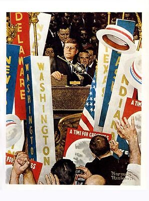 $ CDN17.86 • Buy Norman Rockwell Print JFK A TIME FOR GREATNESS