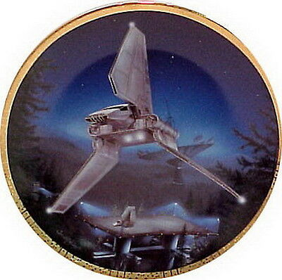 $ CDN50.62 • Buy Vintage IMPERIAL SHUTTLE Star Wars Vehicles Ceramic Collector Plate- MIB