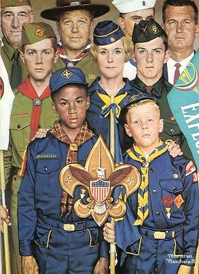 $ CDN19.99 • Buy Norman Rockwell BSA Boy Scout Print BOYPOWER 1971