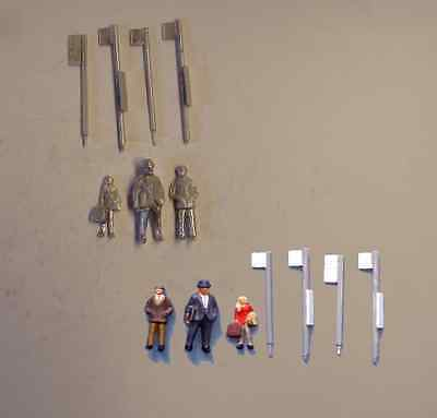 £6.15 • Buy P&D Marsh OO Gauge PW268 Bus Stops And Passengers Castings Require Painting