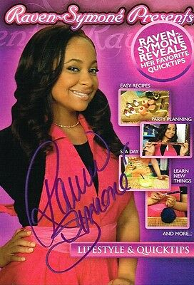 Raven-Symoné SIGNED Lifestyle And Quick Tips DVD Thats So Raven COA • 39.25£