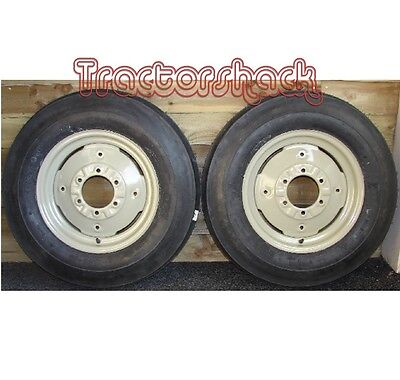 £274 • Buy Front Wheels Tyres & Tubes X 2 To Fit MF 35, Dexta And Various Tractors